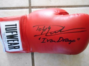 Rocky boxing glove signed by Dolph Lundgren