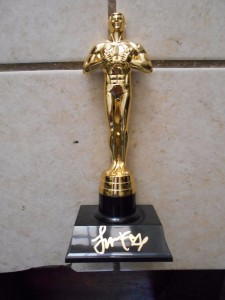 Academy Award signed by Jamie Foxx.